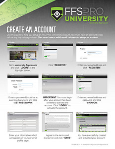 FFS PRO® University -  Create An Account